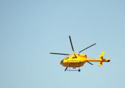 Air ambulance going to incident