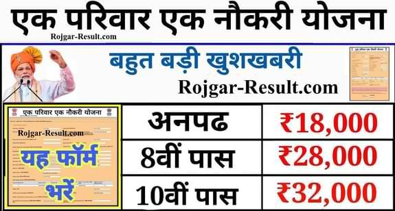 Ek Parivar Ek Naukri Yojana एक परिवार एक नौकरी योजना आवेदन फॉर्म