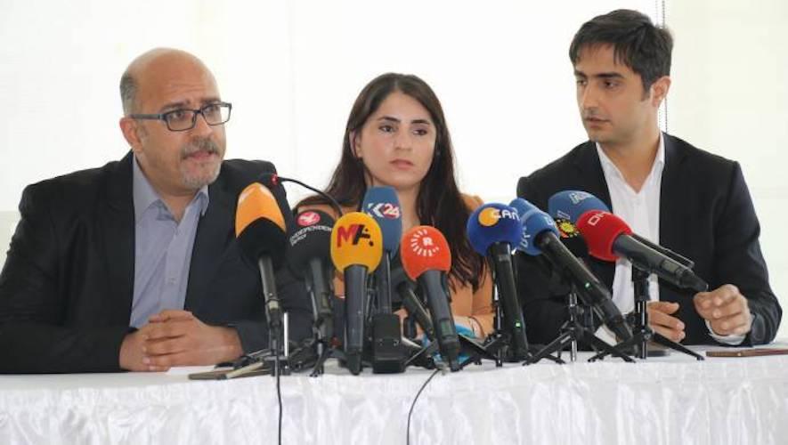 Conference de presse des avocats d'Abdullah Ocalan le 6 mai 2019 à Istanbul.