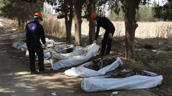 670 corps extraits du plus grand charnier de Raqqa