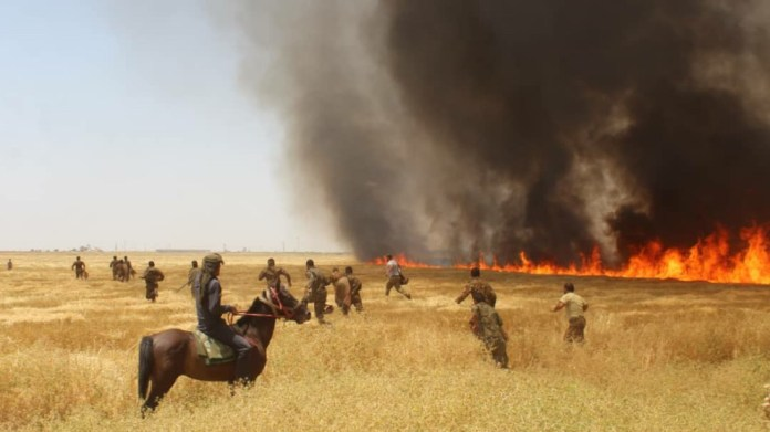 Incendies au Rojava