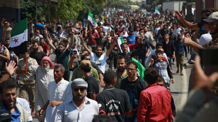 Idlib : Grande manifestation contre l'Etat turc