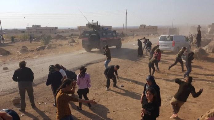 Une patrouille turco-russe caillassée à Kobanê
