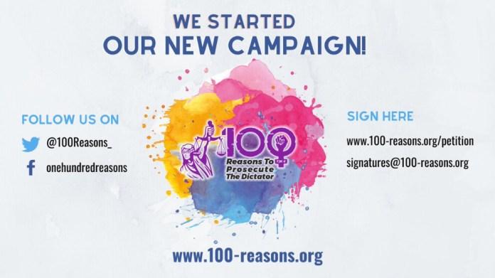 « 100 raisons de poursuivre le dictateur », tel est le nom de la campagne lancée par le Mouvement des Femmes kurdes en Europe.