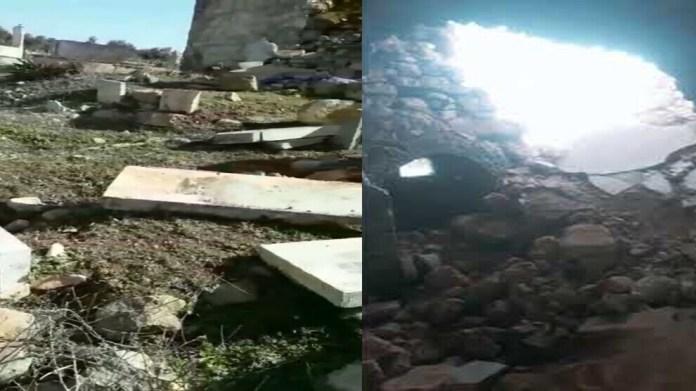 L'armée turque et ses mercenaires djihadistes qui lui sont affiliés ont profané le cimetière yézidi, Sheikh Hamid, dans le village de Qestel Cindo à Shera, dans la région d'afrin, et ont pillé les arbres autour du cimetière.