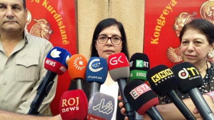 La coprésidente du KNK, Zeyneb Murad, a déclaré qu'il existait un terrain propice à l'unité nationale au Sud-Kurdistan, ajoutant : «Tous les partis du Kurdistan doivent prendre position contre les attaques et l'occupation.»