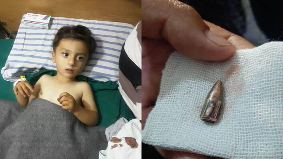 Un enfant de 3 ans a été blessé lors des bombardements de l'Etat turc et ses mercenaires, jeudi soir dans le district de Sherawa.