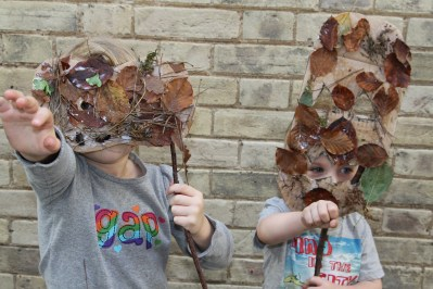 Art and story-Found Faces woodland workshop at Theatre Royal BSE