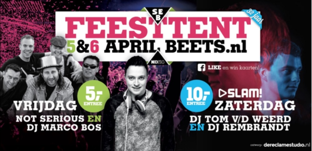 Feesttent Beets 5&6 April 2019