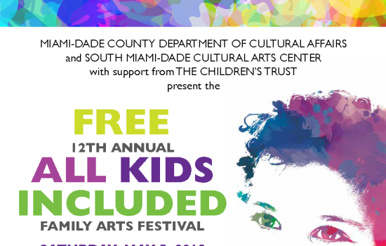 FREE 12TH ANNUAL ALL KIDS INCLUDED FAMILY ARTS FESTIVAL