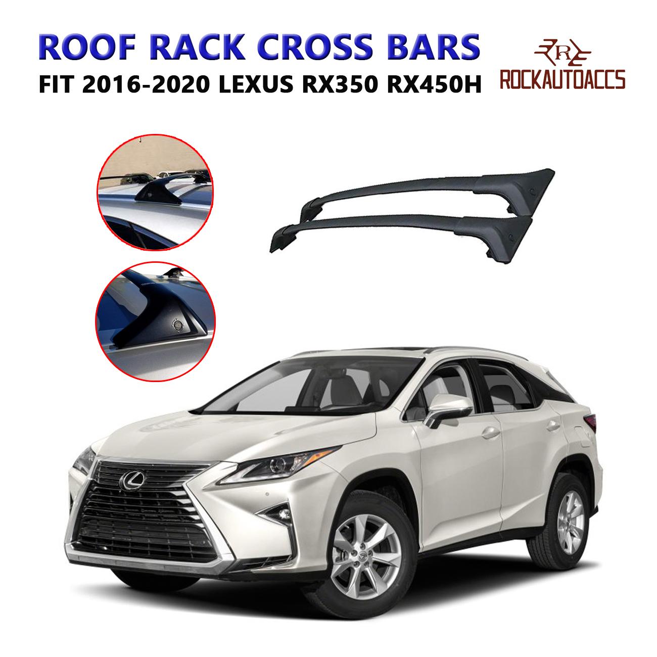 rokiotoex roof rack crossbars side rail cross bars fit 2016 2020 lexus rx350 rx450h rooftop factory flush roof rails kayak cargo luggage carrier