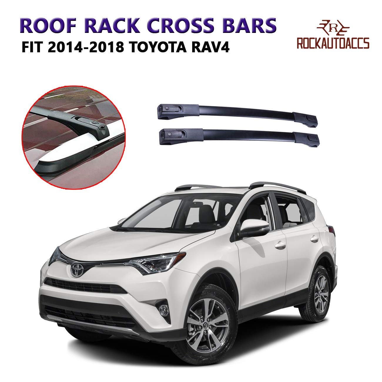 Black Aluminum Roof Rack Crossbar Top Luggage Bag Cargo Rail Fits 2014-2018 Subaru Forester