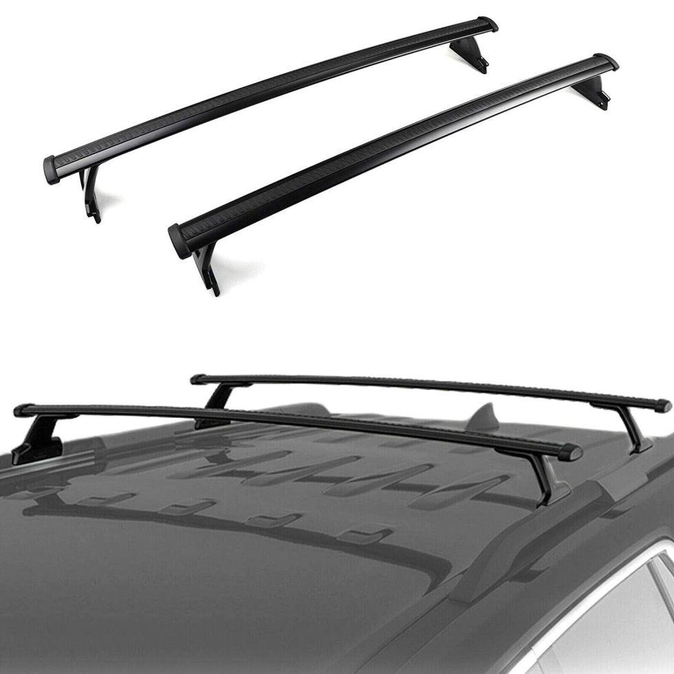 ROKIOTOEX Roof Rack Crossbars Roof Rail Cross Bars Fit 2018 2019 2020 2021 Chevrolet Equinox SUV Rooftop Side Rail Cargo Bag Kayak Luggage Carriers Aluminum Black