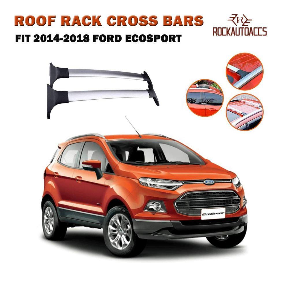 ROOF-RACK-CROSSBARS-FOR-FORD-ECOSPORT-wFACTORY-SIDE-RAILS-2014-2015-2016-2017-2018-Luggage-Roof-Rack-Rail-Cross-Bars-B07HMLRDHS
