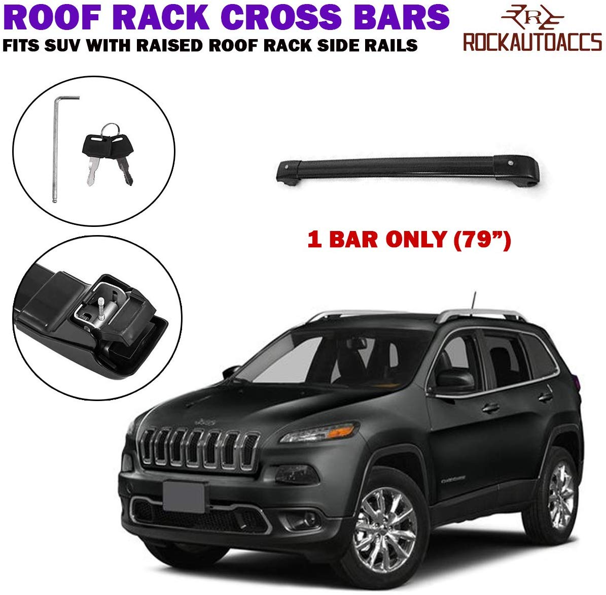 ROKIOTOEX Universal Roof Rack Crossbar SUV with Factory ...