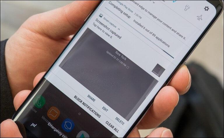 Cara Screenshoot Samsung a7 Series