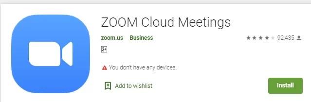 Zoom Cloud Meeting on Roku