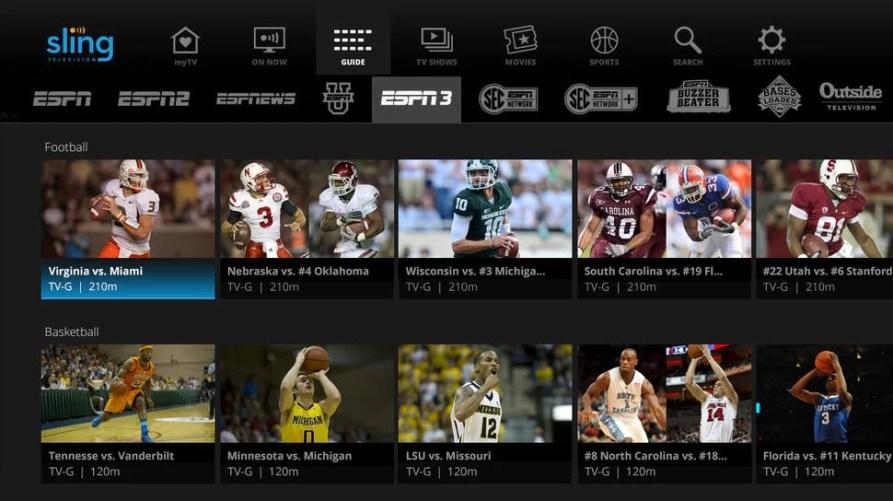 Sling TV - SEC NETWORK ON ROKU