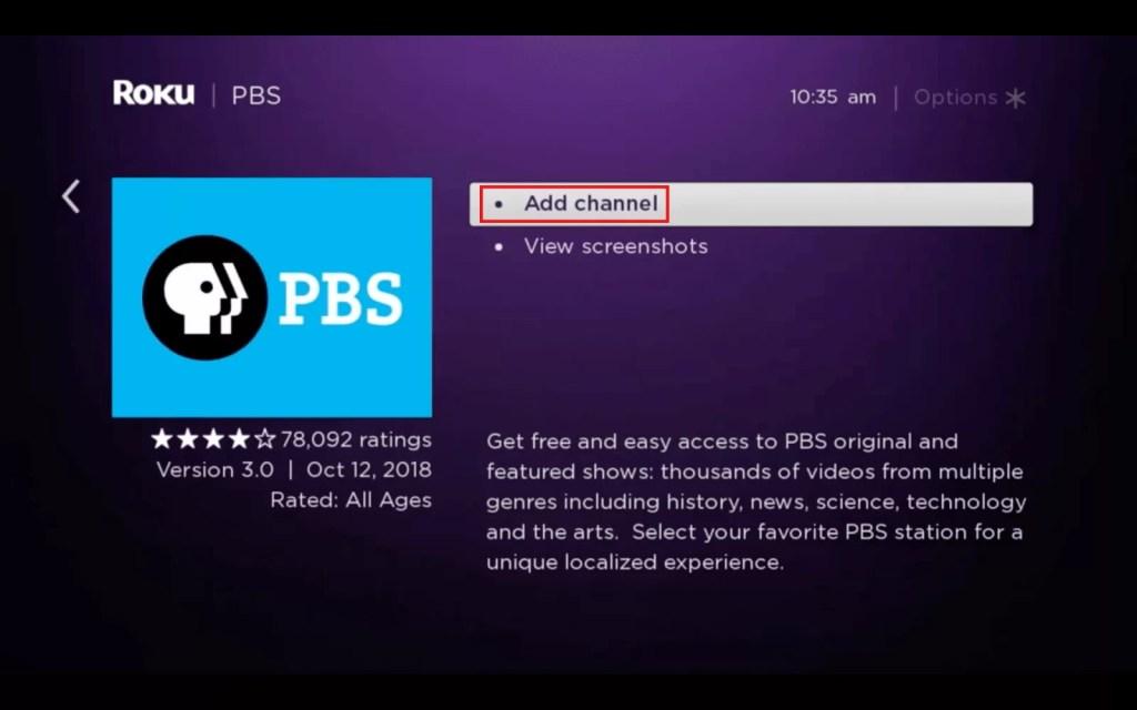 PBS ON ROKU