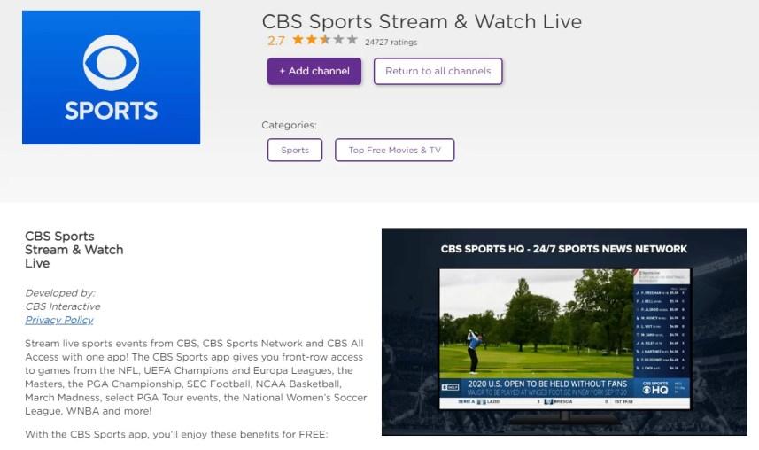 Download CBS Sports