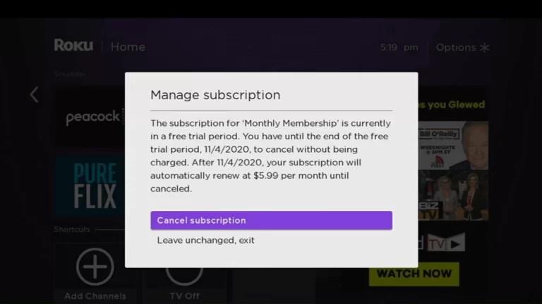 Cancel fuboTV Subscription