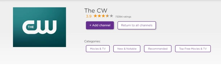CW on Roku