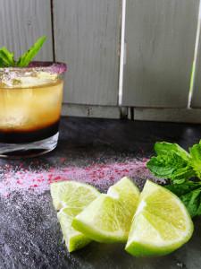 Pomegranate Whiskey Sour recipe with rokz pomegranate cocktail sugar