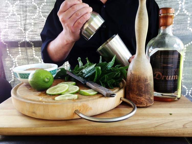 Mojito basics: Lime, mint, sugar and of course, rum.