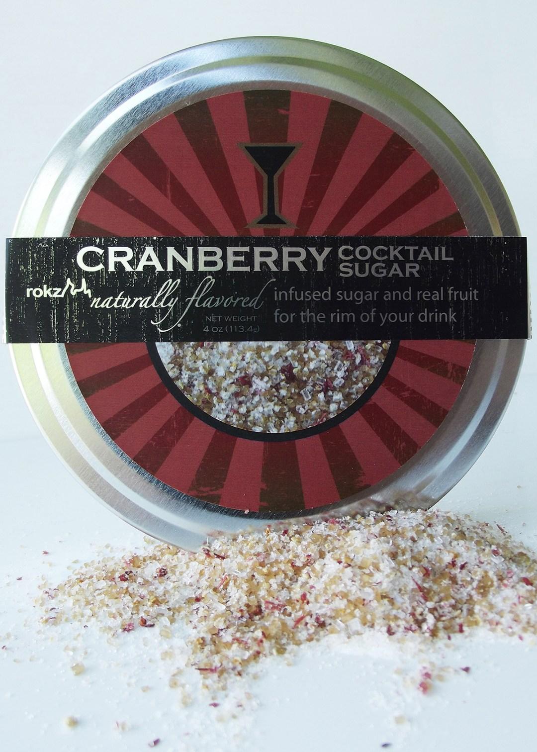 rokz Cranberry Infused Sugar