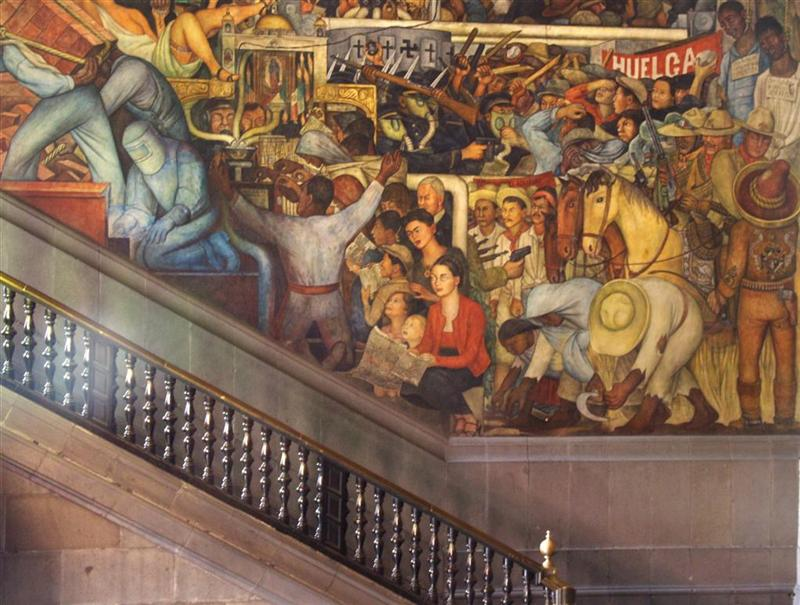 Diego rivera and frida kahlo exhibition santiago 2009 for Diego rivera first mural
