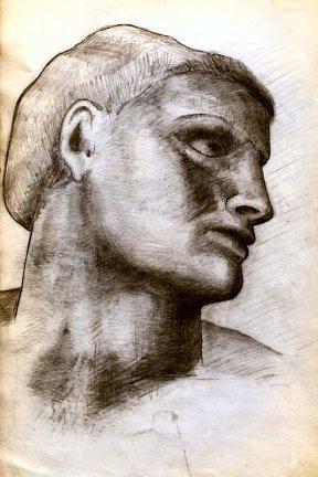 Detail - Michelangelo's Adam