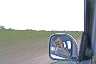 I want to see more and more things disappearing in my rear-view morror