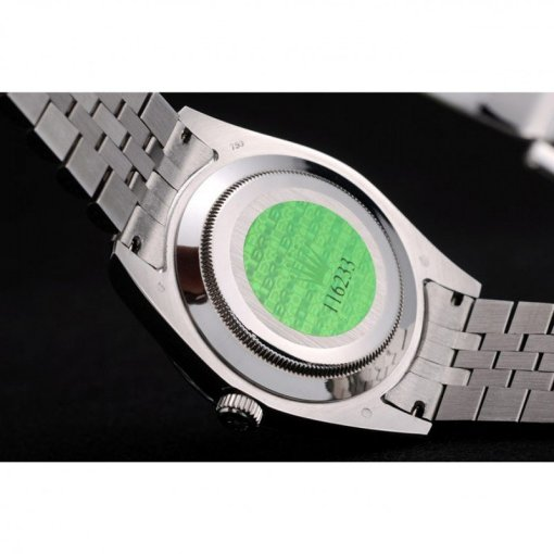 Polished stainless steel ribbed bezel