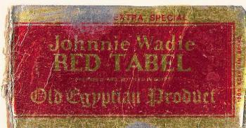 Johnny Wadi Red Table label