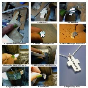 Roliga smycken tillverkas i egen silvervekrstad. Äkta silver eller guld.