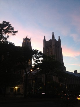 Sunset in Morningside Heights