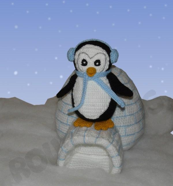 Amigurumis Amigurumi Pinguin Klaus mit Iglu Amigurumi