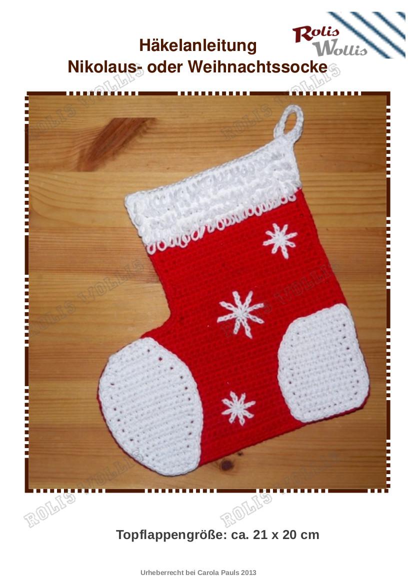 Ziemlich Weihnachten Häkelanleitungen Kostenlos Zeitgenössisch ...