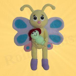 Amigurumis Amigurumi Schmetterling mit Schaukel Bibsi Amigurumi
