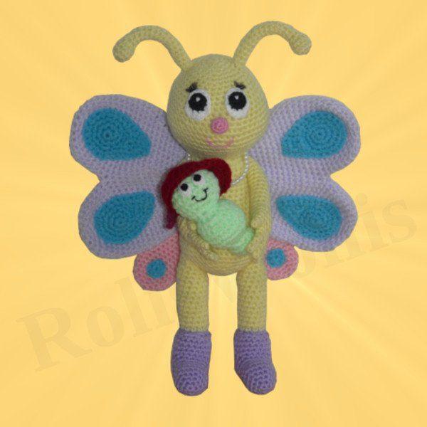 Amigurumis Amigurumi Schmetterling mit Schaukel Bibsi Amigurumi häkeln