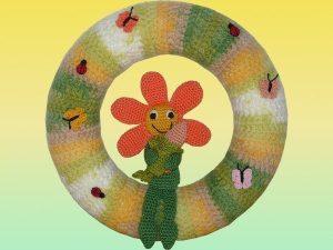Amigurumi Türkranz Blumenzauber