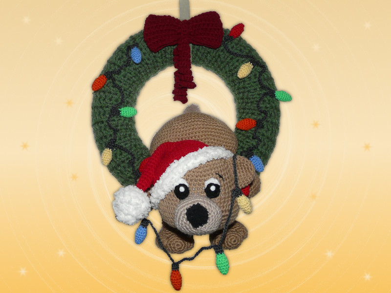 Türkranz Weihnachten mit Teddy