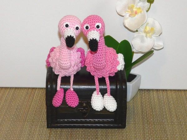 Amigurumis Flamingo, Schlüsselanhänger oder Kantenhocker Amigurumi häkeln
