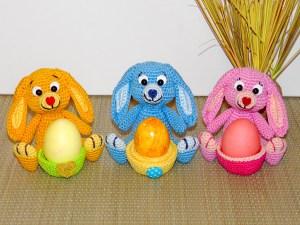 Amigurumis Häschen Eierbecher Eierbecher und Eierwärmer Anleitungen