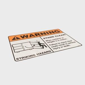 WARNING Decal (Striking Hazard)