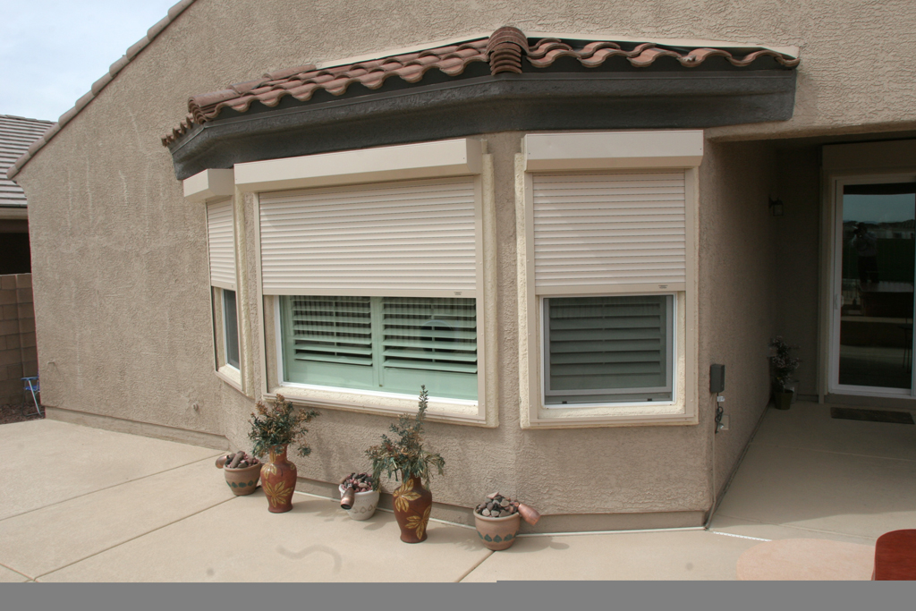 Residential shutters - The rolling shutter home in bohemia ...