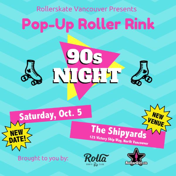 Pop Up Roller Rink North Vancouver