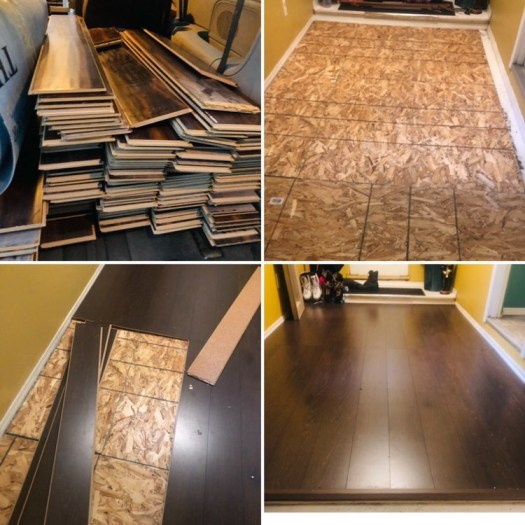 Flooring inside an apartment