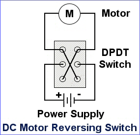 How to wire a motor with sensors to a DPDT switch? | All