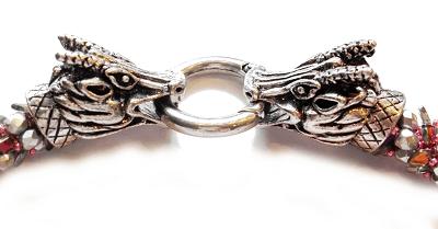 Kette - Dragontail mit Drachenköpfen (Verschluss)